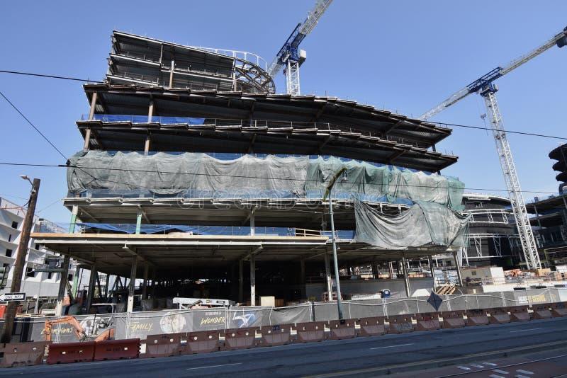 O estádio novo de continuação dos guerreiros do Golden State sob a construção, 18 fotografia de stock royalty free