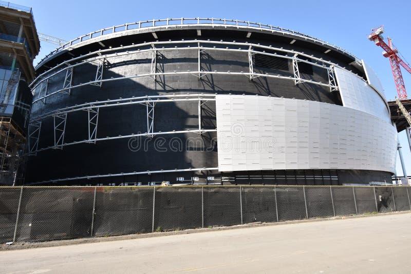 O estádio novo de continuação dos guerreiros do Golden State sob a construção, 8 imagens de stock