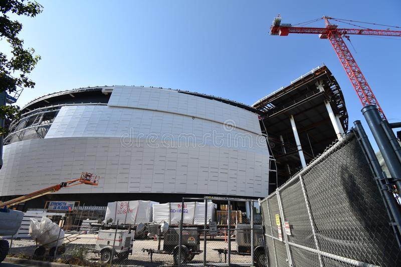 O estádio novo de continuação dos guerreiros do Golden State sob a construção, 7 fotografia de stock