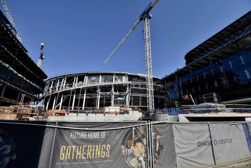 O estádio novo de continuação dos guerreiros do Golden State sob a construção, 4 imagem de stock