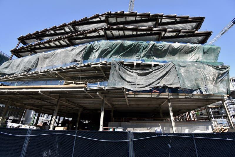 O estádio novo de continuação dos guerreiros do Golden State sob a construção, 2 fotografia de stock