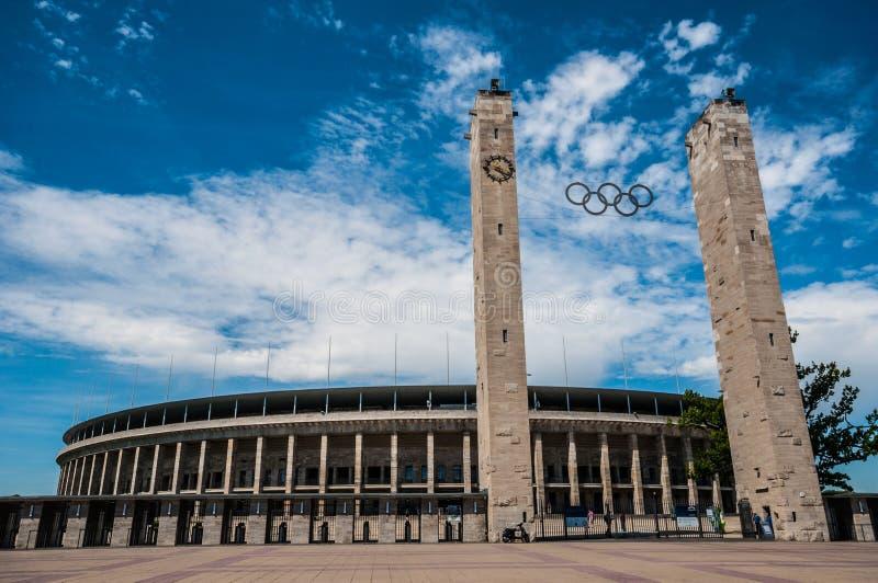 O Estádio Olímpico Berlim imagem de stock