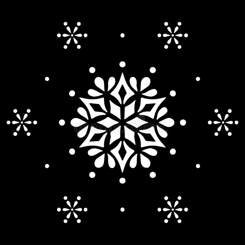 O estêncil branco da mandala do teste padrão rabisca o esboço ilustração stock