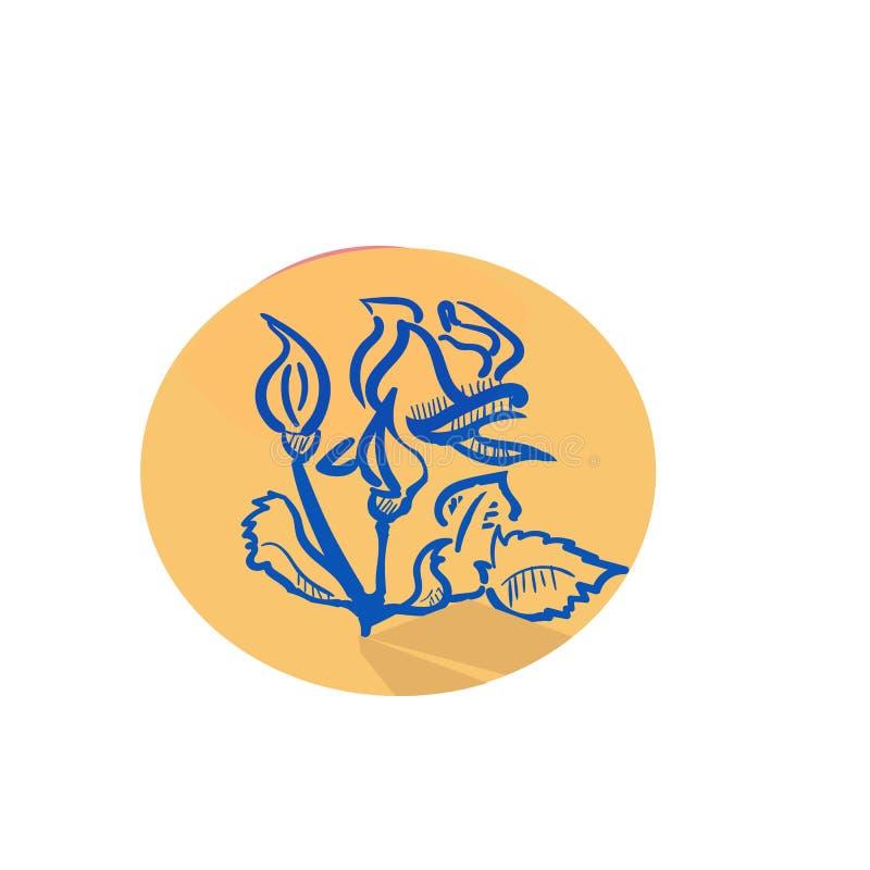 O estúdio da tatuagem simboliza com as flores profissionais do equipamento e as folhas ancoram a ilustração isolada andorinhas do ilustração do vetor