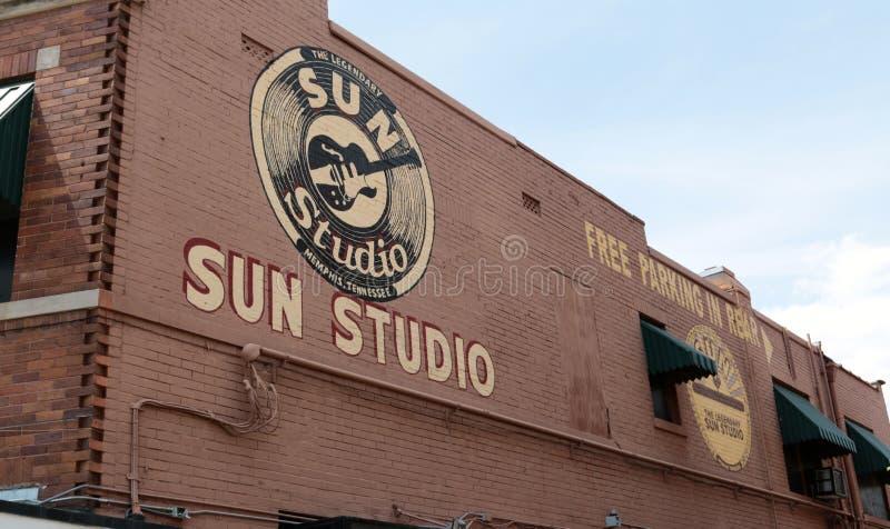 O estúdio mundialmente famoso e histórico de Sun, Memphis Tennessee fotografia de stock