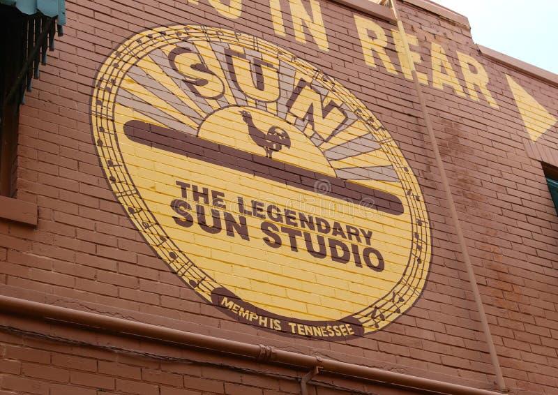 O estúdio mundialmente famoso e legendário de Sun, Memphis Tennessee foto de stock royalty free