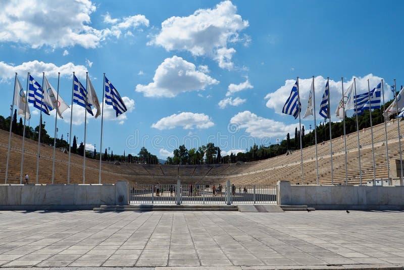 O est?dio de Panathenaic em Atenas, Gr?cia imagens de stock