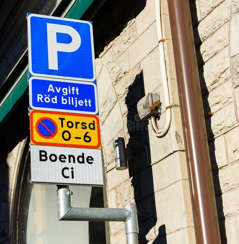 O estacionamento provisions o sinal imagens de stock royalty free