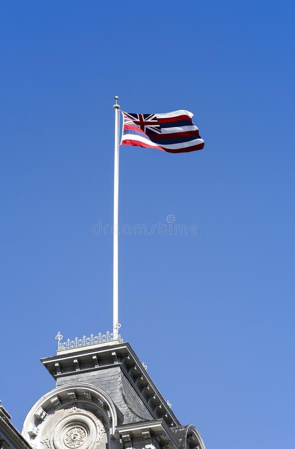 O estado de bandeira de Havaí foto de stock royalty free