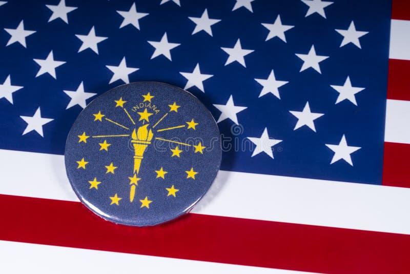 O estado de Indiana nos EUA fotografia de stock royalty free