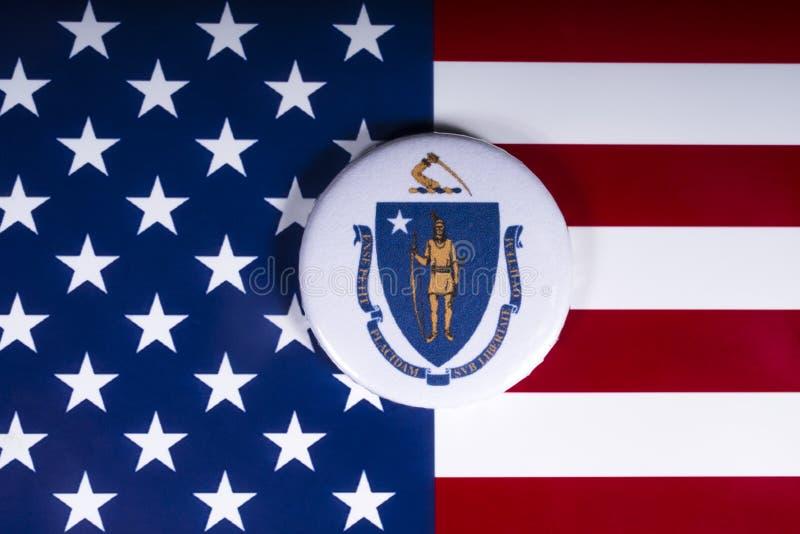 O estado de Massachusetts nos EUA imagens de stock