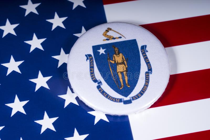 O estado de Massachusetts nos EUA foto de stock
