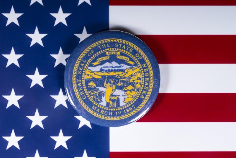 O estado de Nebraska nos EUA foto de stock royalty free