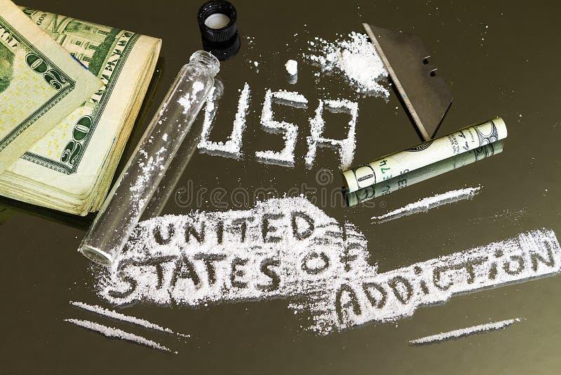 O Estados Unidos do apego Crise epidêmica da droga do ` s de América fotos de stock royalty free