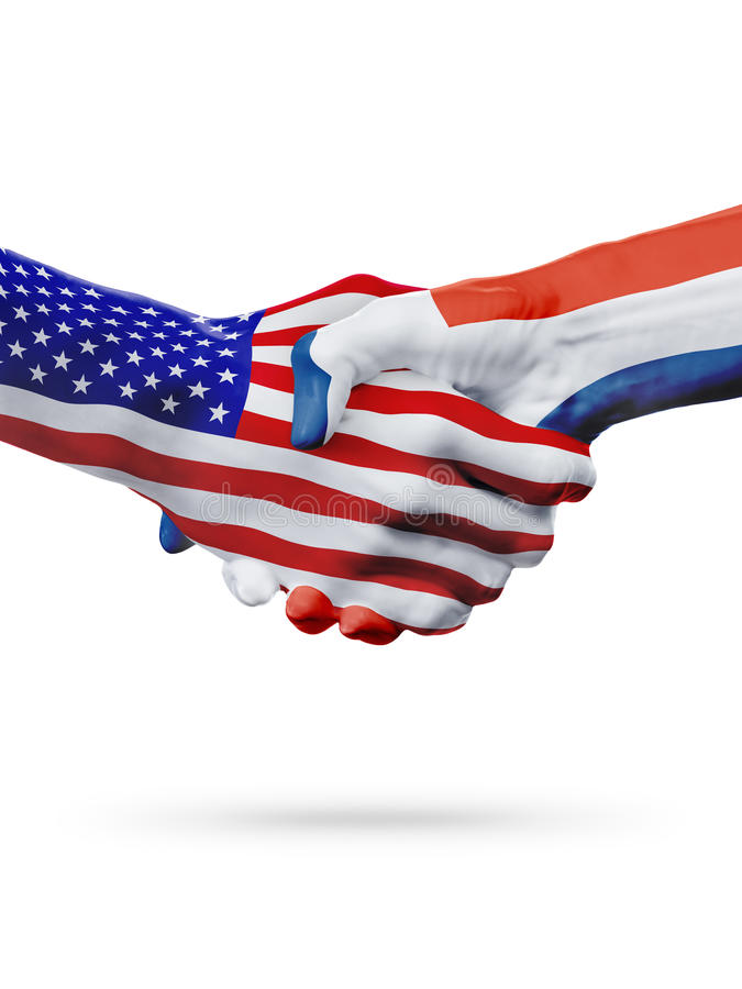 O Estados Unidos, República Dominicana embandeira a cooperação do conceito, negócio, competição de esportes ilustração royalty free