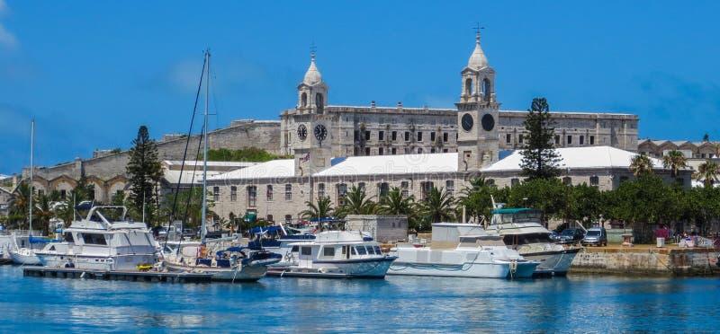 O estaleiro naval real de Bermuda imagem de stock
