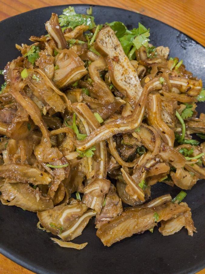 O estilo taiwanês delicioso assou cowhells, rolos, cu do feijão secado imagens de stock