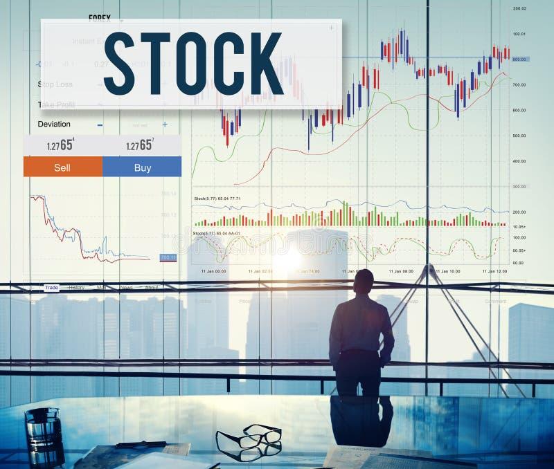 O estrangeiro do comércio do estoque dos resultados do mercado de valores de ação compartilha do conceito imagens de stock royalty free