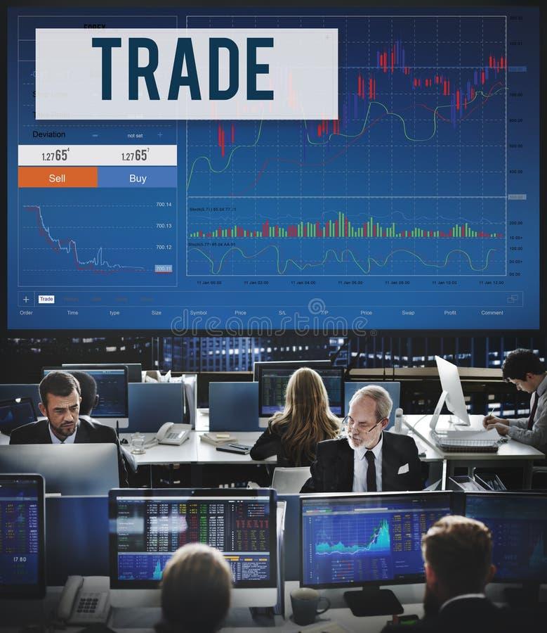 O estrangeiro do comércio do estoque dos resultados do mercado de valores de ação compartilha do conceito fotos de stock royalty free