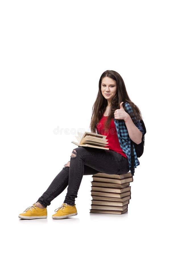 O estudante novo que prepara-se para exames da escola fotografia de stock royalty free