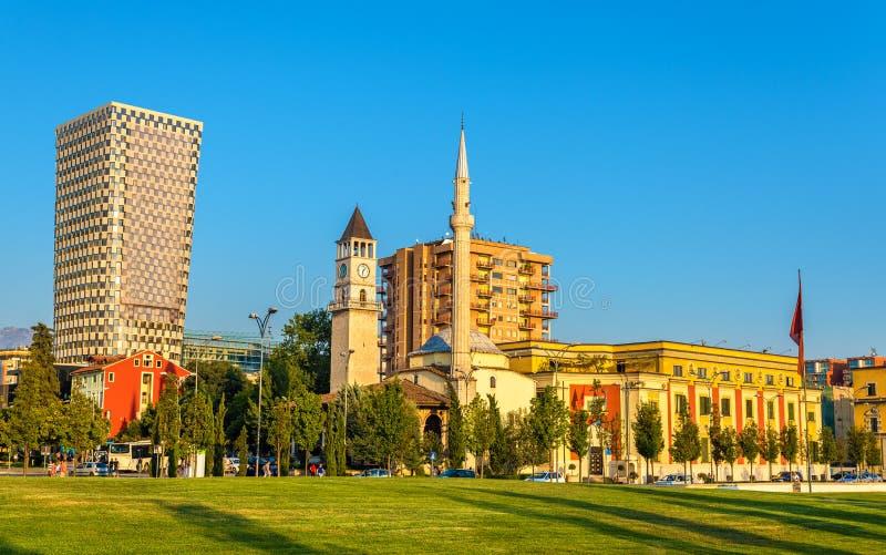 O Et'hem Bey Mosque em Tirana imagem de stock royalty free