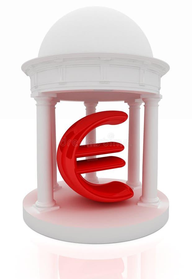 O Euro assina dentro a rotunda ilustração royalty free