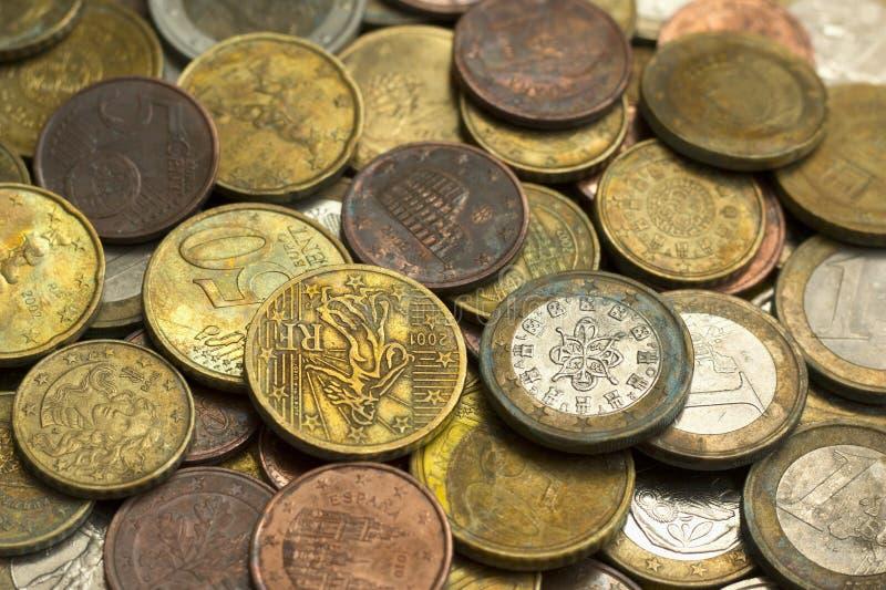 O euro do dinheiro inventa o fundo fotografia de stock royalty free