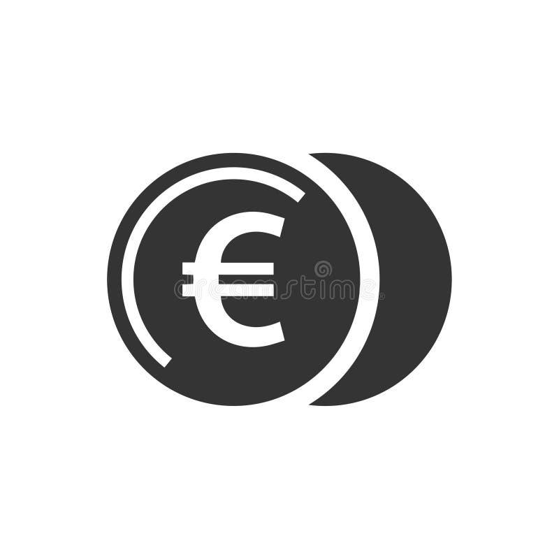 O Euro inventa o ícone ilustração stock