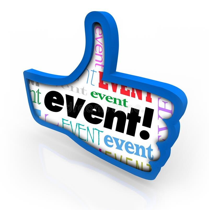 O evento manuseia acima do feedback recomendado da revisão da mostra do partido ilustração royalty free