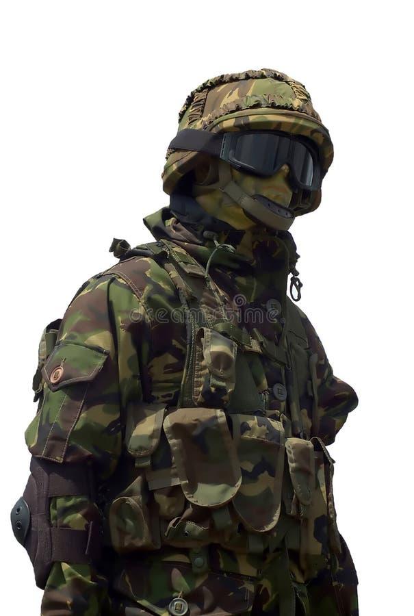 O exército e a polícia combatem uniform-4 imagem de stock