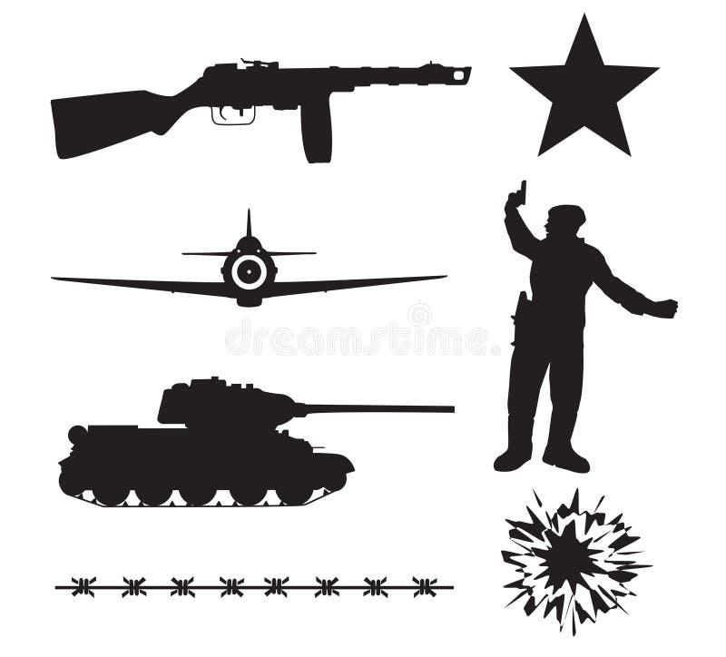 O exército vermelho na segunda guerra mundial ilustração royalty free