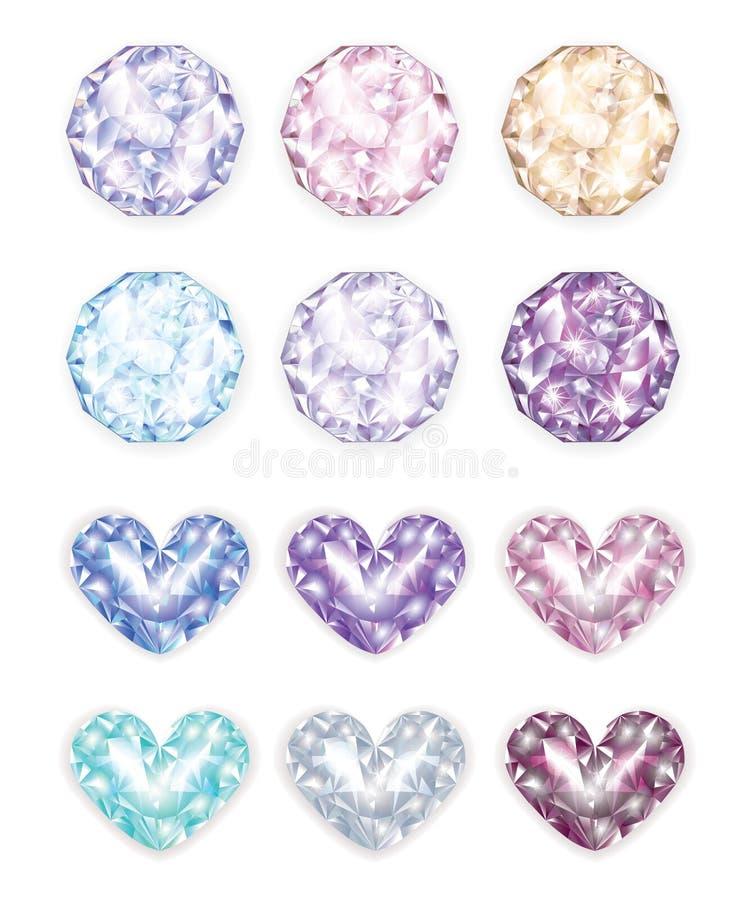 O Exclusive apedreja diamantes ilustração stock