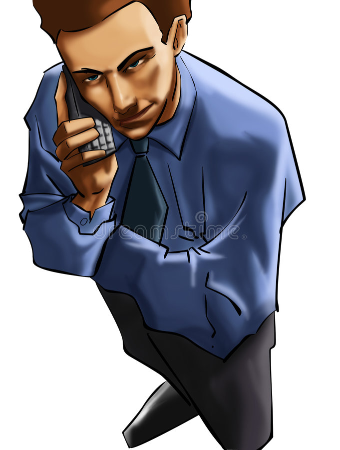 O executie no telefone ilustração do vetor
