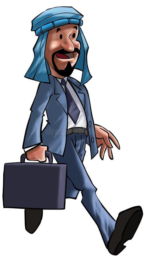 O executivo árabe ilustração stock