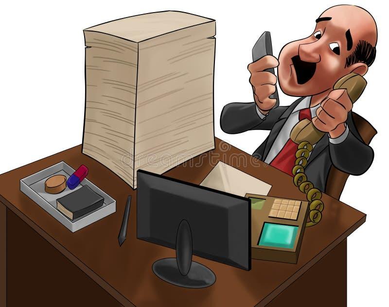 O executivo demasiado ocupado ilustração stock