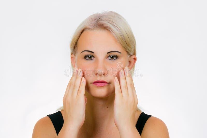 O exercício da cara para mulheres tapdance foto de stock