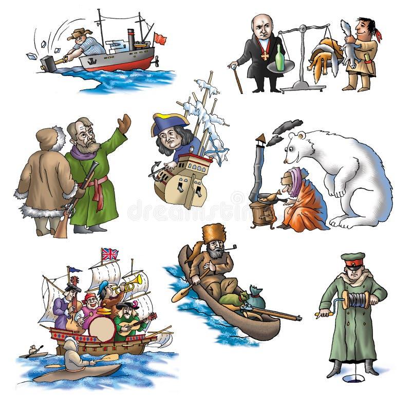 O explorador comemorado em Arctic_4 ilustração stock