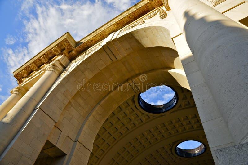 O exterior da porta de Menin fotos de stock