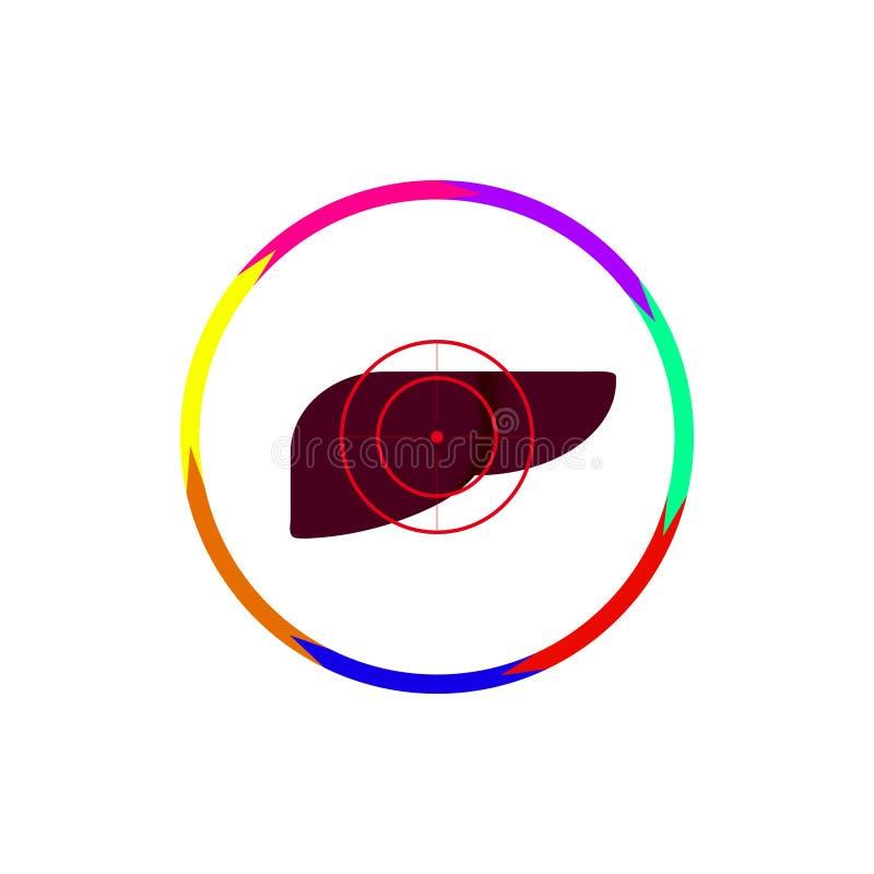 O fígado está sob a arma ilustração stock