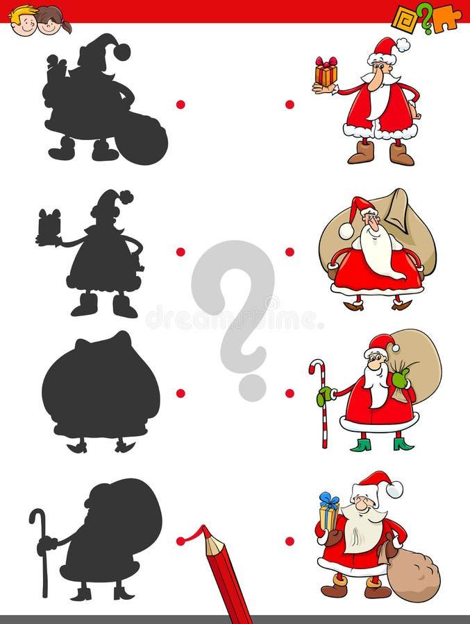 O fósforo sombreia a atividade com Santa Claus ilustração royalty free