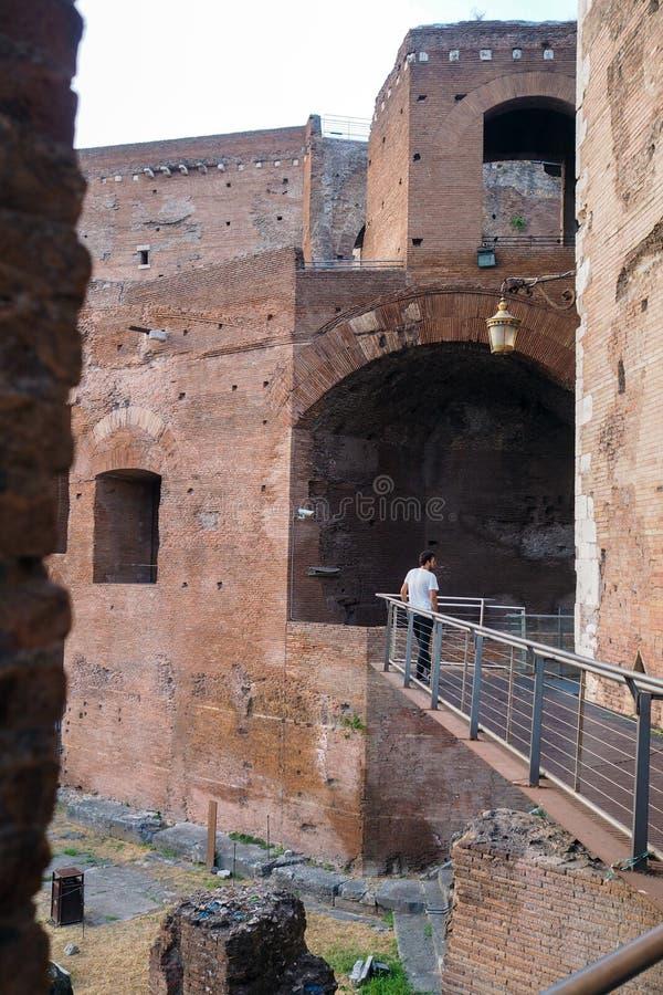 O f?rum de Augustus em Roma, It?lia imagens de stock royalty free