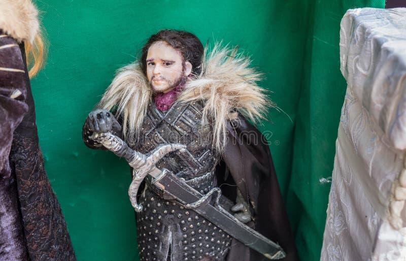 O fantoche de Jon Snow Jogo do caráter dos tronos foto de stock royalty free