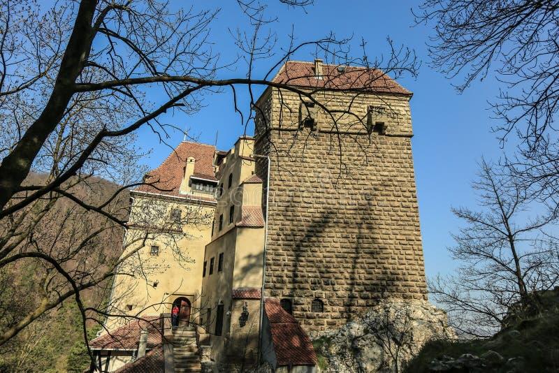 O farelo famoso do castelo de Dracula imagens de stock royalty free