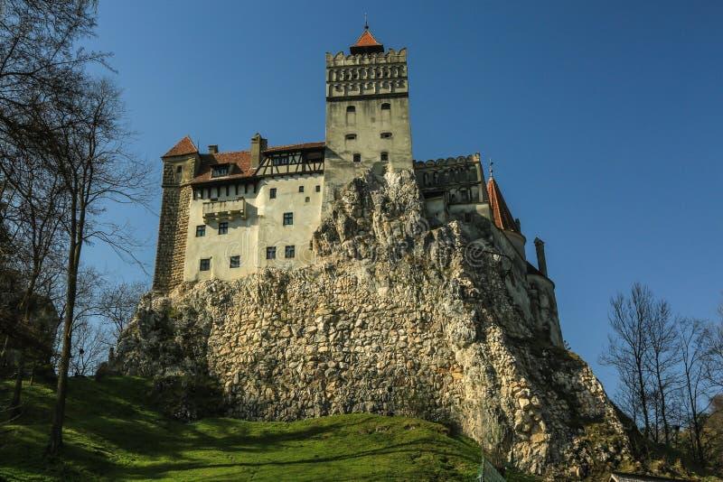 O farelo famoso do castelo de Dracula imagem de stock