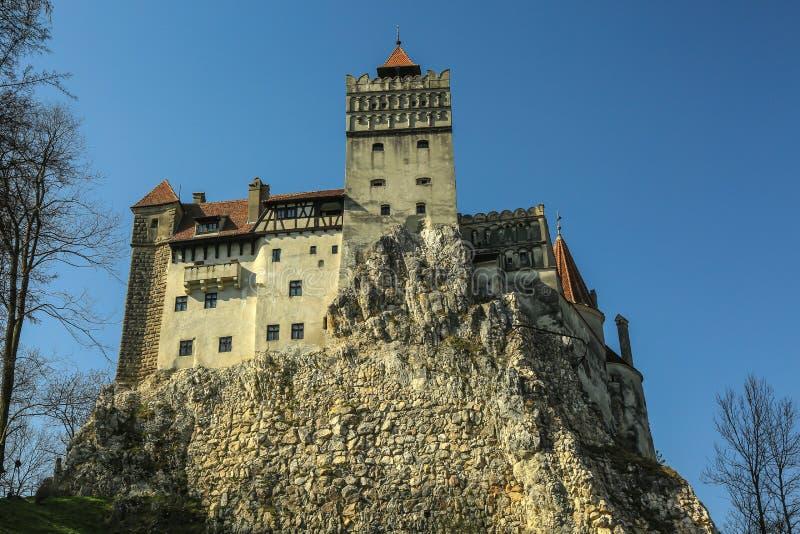 O farelo famoso do castelo de Dracula fotografia de stock