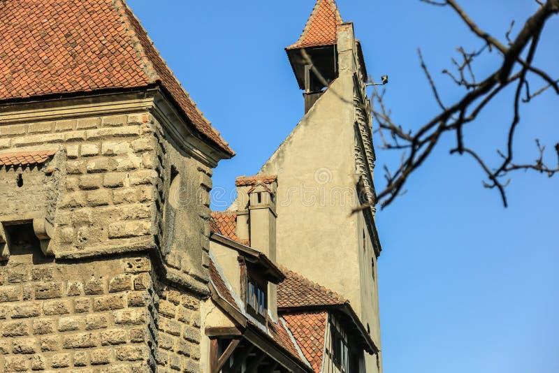 O farelo famoso do castelo de Dracula fotos de stock