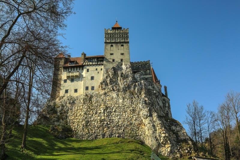 O farelo famoso do castelo de Dracula imagens de stock