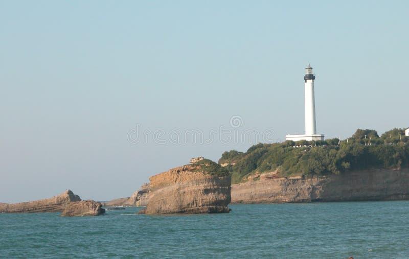 O farol característico de Biarritz em França imagem de stock