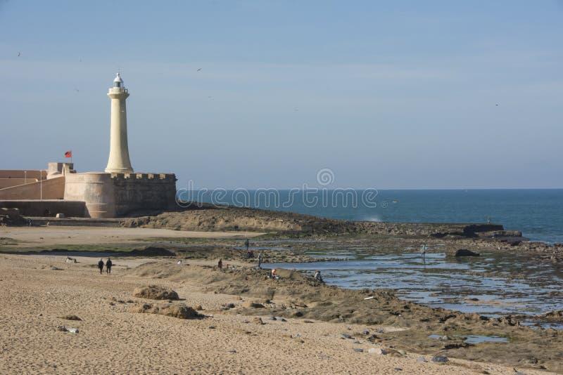 O farol da cidade de Rabat em Marrocos foto de stock royalty free