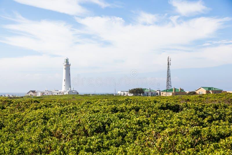 O farol de St Francis do cabo, África do Sul fotos de stock royalty free